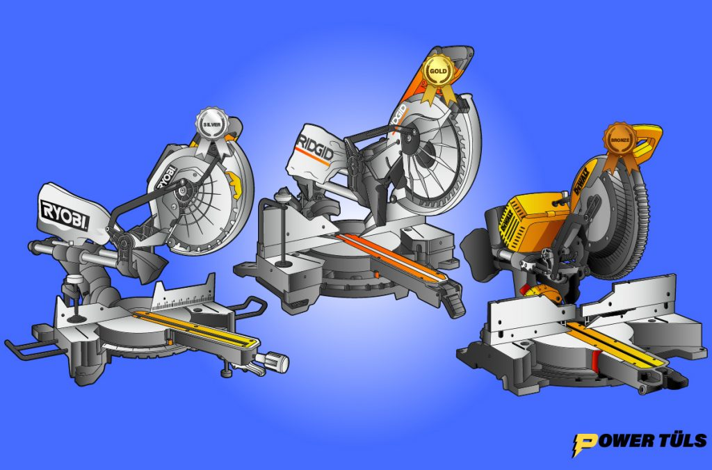 illustration of miter saws