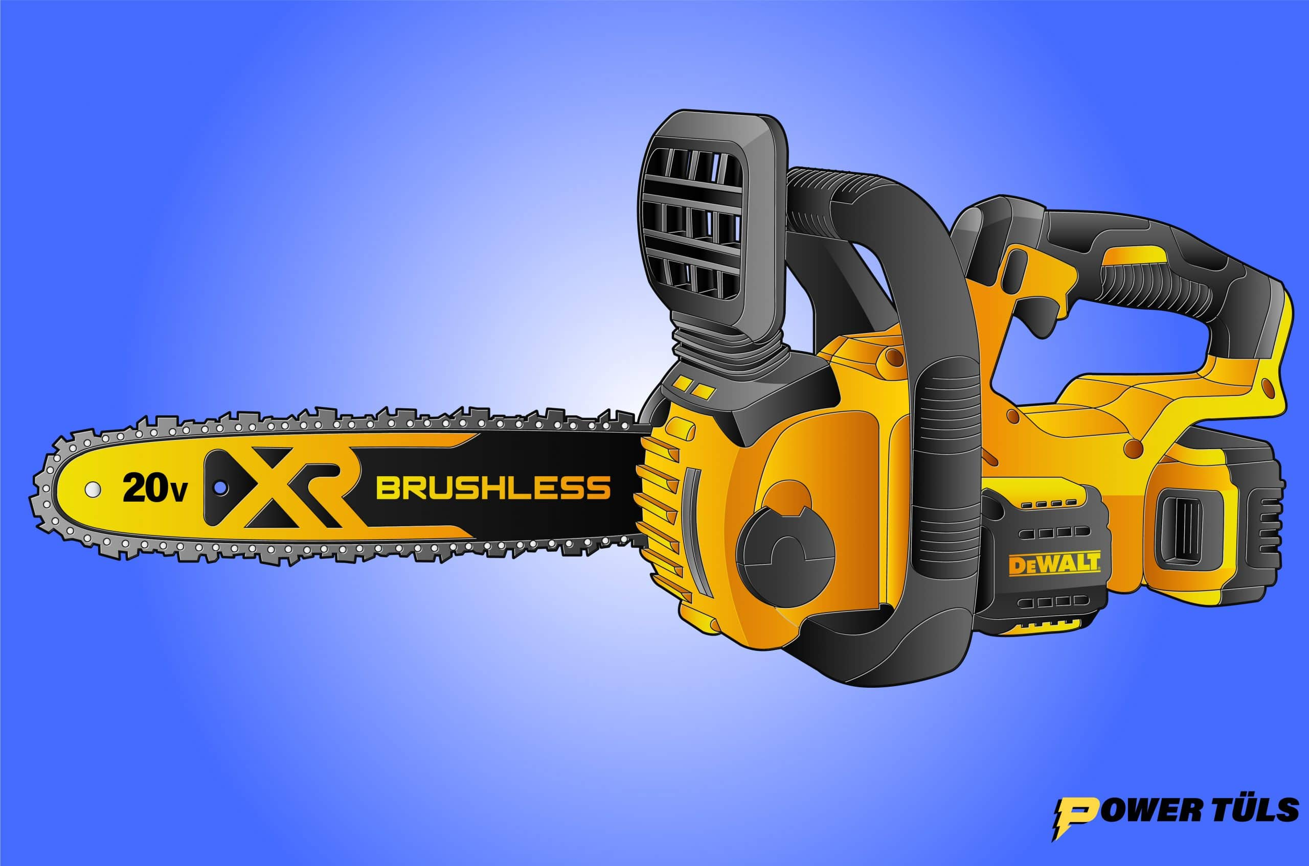 Dewalt 20v Chainsaw Illustration