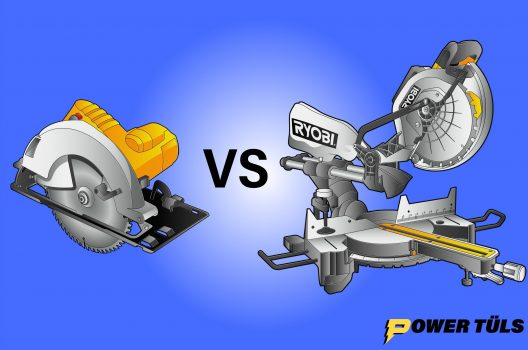 illustration of circular saw and miter saw